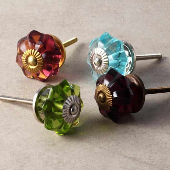 Glass knobs knobco for Colored glass cabinet knobs