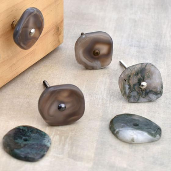 Natural Gemstone Knobs