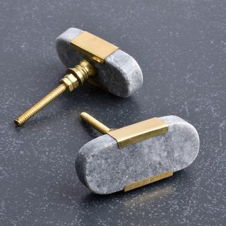 Grey Agate Stone With Brass Cover-1